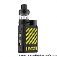 Authentic Vaporesso SWAG II 80W VW 18650 Box Mod w/ NRG PE Tank Atomizer Kit 3.5ml - Zebra Yellow