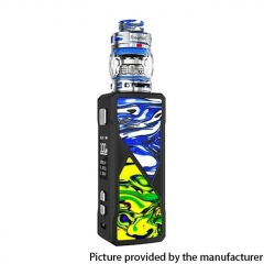 Authentic FreeMax Maxus 100W TC VW Box Mod + Fireluke 3 Tank Vape Kit Resin Edition - Blue Green