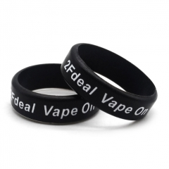 2Fdeal Vape On Bands for Ecig/Atomizer (2pcs) - Black White