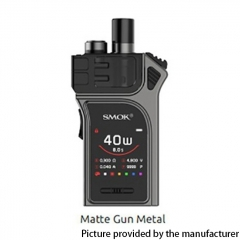 Authentic SMOKTech SMOK Mag 40W 1300mAh VW Pod Starter Kit 3ml - Matte Gun Metal