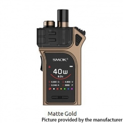 Authentic SMOKTech SMOK Mag 40W 1300mAh VW Pod Starter Kit 3ml - Matte Gold
