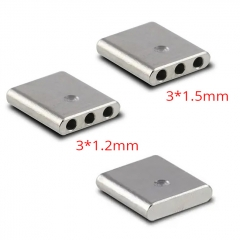 (Ships from Germany)ULTON Airdisks for Typhoon GX 3 Holes + Solid (3pcs)- Silver