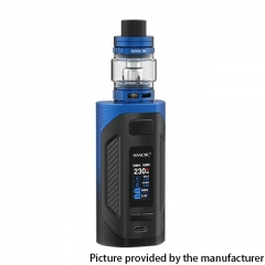 Authentic SMOKTech SMOK Rigel 230W VW Box Mod 18650 +TFV9 Sub Ohm Tank Kit - Blue