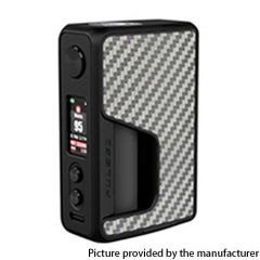 Authentic Vandy Vape Pulse V2 II 95W TC VW BF Squonk Mod 18650/20700/21700 - Silver Carbon Fiber