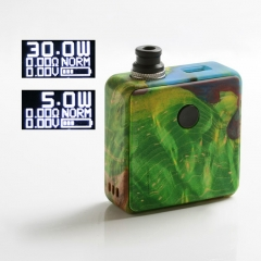 Authentic SXK Bantam Revision 30W VW Variable Wattage Box Vape Mod Kit w/o 18350 Battery - Green Yellow
