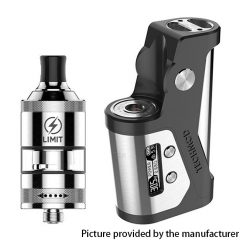 Authentic KIZOKU Techmod 80W TC Box Mod 18650 w/Limit MTL / DTL RTA Tank Kit - Gun Metal