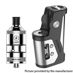 Authentic KIZOKU Techmod 80W TC Box Mod 18650 w/Limit MTL / DTL RTA Tank Kit - Black