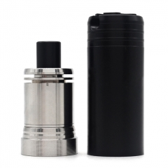(Ships from Germany)Ulton Das Ding V3 Style RDA Rebuildable Dripping Atomizer w/ Bottom Feeding Pin and Tool Tube/ Logo - Silver