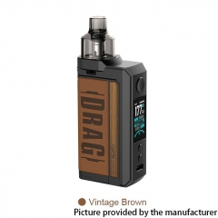 Authentic Voopoo Drag Max 177W 18650 VW Pod Kit 4.5ml - Vintage Brown