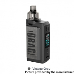 Authentic Voopoo Drag Max 177W 18650 VW Pod Kit 4.5ml - Vintage Grey