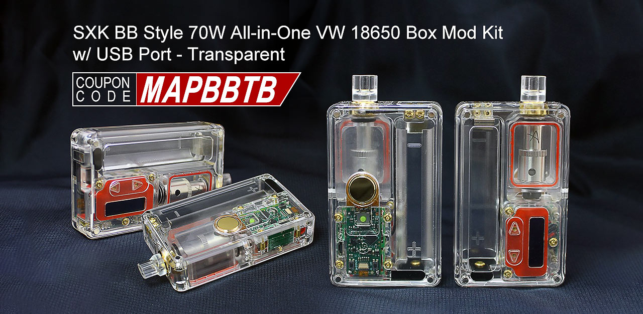 SXK BB Style 70W All-in-One VW 18650 Box Mod Kit w