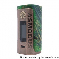 Authentic Asmodus Lustro 200W Touch Screen TC VW Variable Wattage Box Mod (Kodama Edition)- Dark Green