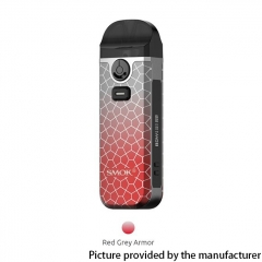 Authentic SMOKTech Nord 4 80W 2000mAh Pod Kit 4.5ml - Red Grey Armor
