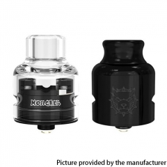 Authentic Damn Vape Mongrel 25.4/26mm RDA w/BF Pin/Spare Cap - Black