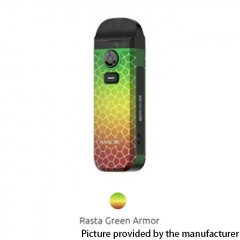 Authentic SMOKTech Nord 4 80W 2000mAh Pod Kit 4.5ml - Rasta Green Armor