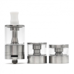 Dvarw MTL FL Facelift 22mm Style RTA Vape Atomizer w/ 11 x Single Hole Inserts + 2 x Spare Tanks - Silver