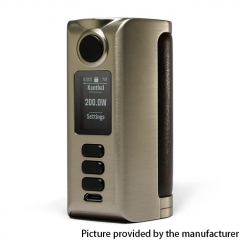 Authentic Dovpo Riva DNA250C 200W Box Mod 2x18650 - Silver Vintage Brown