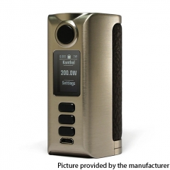 Authentic Dovpo Riva DNA250C 200W Box Mod 2x18650 - Silver Rouh Dark Brown