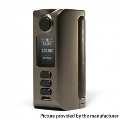 Authentic Dovpo Riva DNA250C 200W Box Mod 2x18650 - Gunmetal Vintage Brown