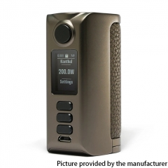 Authentic Dovpo Riva DNA250C 200W Box Mod 2x18650 - Gunmetal Pure Gunmetal