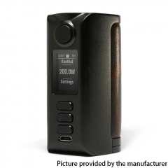 Authentic Dovpo Riva DNA250C 200W Box Mod 2x18650 - Black Vintage Brown