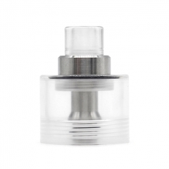 Replacement Tank + Chimney + 510 Drip Tip for Fev Flash e-Vapor V4.5S Style RTA Tank 2.5ml - Translucent