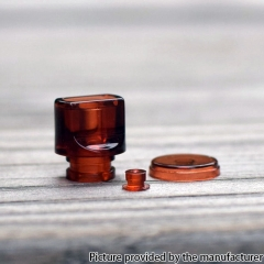 Never Normal Whistle V2 Style 510 Drip Tip + Button + Small Button for dotAIO Pod PMMA - Brown