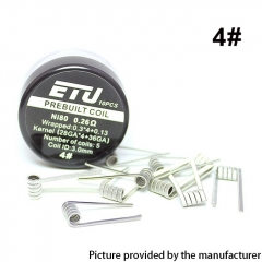 Authentic SXK ETU Pre-built Coil NI80 Kernel 28GA x 4 + 36GA - 0.26ohm