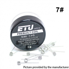 Authentic SXK ETU Pre-built Coil NI80 Kernel 28GA + 40GA - 1ohm