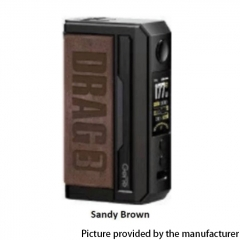 Authentic Voopoo Drag 3 177W VW Dual 18650 Box Mod - Smoky Brown