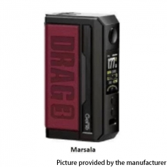 Authentic Voopoo Drag 3 177W VW Dual 18650 Box Mod - Marsala