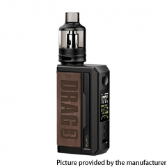 Authentic Voopoo Drag 3 177W VW Dual 18650 Box Mod + TPP Tank Kit - Smoky Brown