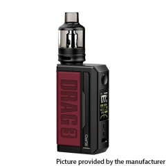 Authentic Voopoo Drag 3 177W VW Dual 18650 Box Mod + TPP Tank Kit - Marsala