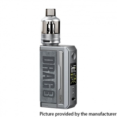Authentic Voopoo Drag 3 177W VW Dual 18650 Box Mod + TPP Tank Kit - Smoky Gray