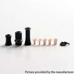 Authentic Auguse CG108P CG Pro 510 Drip Tip w/ 5 x Plugs - Gun Metal Black SS