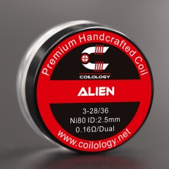 Authentic Coilology Ni80 Alien Prebuilt Coil 3*28/36 AWG 0.16ohm
