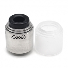 Vazzling Temple Style 28mm RDA w/ Extra Cap - Silver