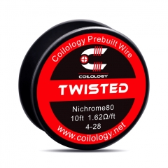 Authentic Coilology NI80 Twisted 4-28 AWG Prebuilt Spool Wire 10 Feet - 1.62ohm