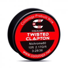 Authentic Coilology NI80 Twisted Clapton 3-28/36 AWG Prebuilt Spool Wire 10 Feet - 2.17ohm