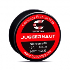 Authentic Coilology NI80 Juggernaut 2-26/2-36 AWG Prebuilt Spool Wire 10 Feet - 1.46ohm
