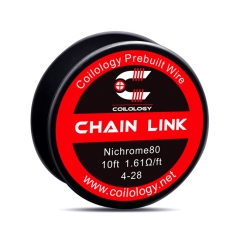 Authentic Coilology NI80 Chain Link 4-28 AWG Prebuilt Spool Wire 10 Feet - 1.61ohm
