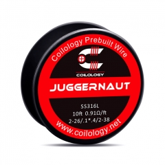 Authentic Coilology SS316 Juggernaut 2-26/2-38 AWG Prebuilt Spool Wire 10 Feet - 0.91ohm