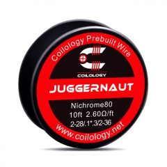Authentic Coilology NI80 Juggernaut 2-28/2-36 AWG Prebuilt Spool Wire 10 Feet - 2.6ohm
